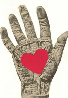 I Give You My Heart anatomical collage by dadadreams, via Flickr