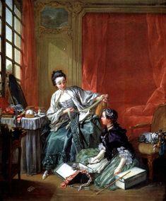 Français : La Marchande de modes  Date 1746  Technique/matériaux huile sur toile  Dimensions 64 × 53 cm  Lieu actuel Nationalmuseum  Stockholm