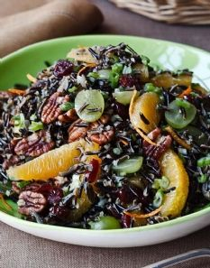 Wild Rice Salad for Entertaining...  Flavors become even better the longer it sits! Great for parties at room temperature! by Barefoot Contessa  (I soak my pecans for easier digestion;)
