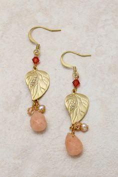 Swarovski Crystal Folio Earrings on Emma Stine Limited