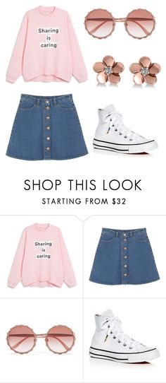 """Untitled #1"" by lilithkara ❤ liked on Polyvore featuring Monki, Dolce&Gabbana, Converse and Allurez"