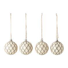 IKEA - VINTER 2015, Dekoration, kugle, Nemt at hænge op, fordi det er syet med bånd.Fremstillet af et holdbart materiale, så de ikke går i stykker, hvis de falder på gulvet.