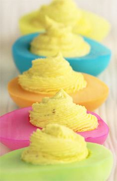 Colorful Deviled Eggs #Easter Recipe