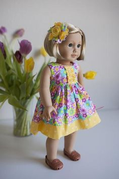 Lola Doll Top - Free pattern from Violette Field Threads - 1 Sewing Doll Clothes, Sewing Dolls, Girl Doll Clothes, Girl Dolls, Ag Dolls, Ladies Clothes, Barbie Clothes, American Girl Dress, American Doll Clothes
