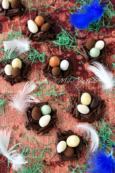 Osternester aus Salzstangen Polish Recipes, Polish Food, Eggs, Inspiration, Melted Chocolate, Biscuits, Pretzel Sticks, Treats, Easter Activities