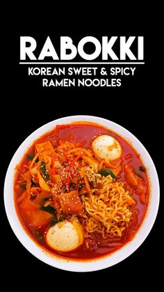 Rabokki Korean Sweet & Spicy Ramen Recipe & Video - Seonkyoung Longest Jump to Recipe·Print Recipe Hi guys! Today, I'm sharing Rabokki recipe! Rabokki is pretty much same as tteokbokki– rice cake in sweet and spicy sauce! Spicy Ramen Recipe, Spicy Recipes, Asian Recipes, Cooking Recipes, Healthy Recipes, Ethnic Recipes, Noodle Recipes, Lasagna Recipes, Juicy Hamburger Recipe