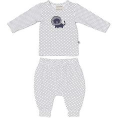 Marquise Navy Spot Top And Footless Pant Set Lion, $10 on sale
