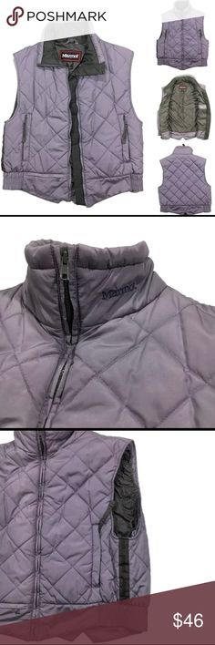 Vest Gorgeous Marmot down vest! It's purple with gray detailing and perfect for an extra layer of warmth.Excellent condition Marmot Jackets & Coats Vests