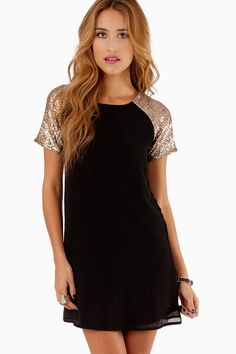 Embellish Me Shift Dress: Size XS, in black&gold  *USE DISCOUNT CODE: december40 AT CHECKOUT