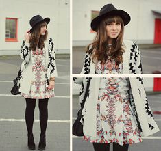 New black hat.  (by Maddy C) http://lookbook.nu/look/4545129-New-black-hat