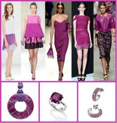 Radiant Orchid è il colore del 2014  È un intrigante mix di fucsia, rosa e viola, il suo nome in codice è 18-3224 ed è il colore della creatività, dell'amore e dell'innovazione. Un motivo valido per uno shopping a tema? Indossare indumenti e gioielli di questo colore migliora l'aspetto.  www.argentoro.it