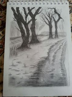 My latest drawing. I call it path in the woods. I made it for my mom Watercolor Drawing, Drawing Tips, Painting On Wood, My Drawings, Art Boards, Paths, Woods, Art Photography, Mom