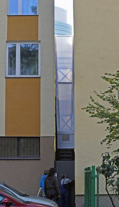 Narrowest building opens in Poland - Pretty cool bit of design.