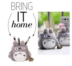 """""""Bring It Home: Totoro Plush Pencil Holder"""" by polyvore-editorial ❤ liked on Polyvore featuring interior, interiors, interior design, home, home decor, interior decorating and bringithome"""