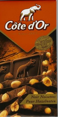 Cote d'Or hazelnut chocolate, one of the most popular brands of Belgian chocolate
