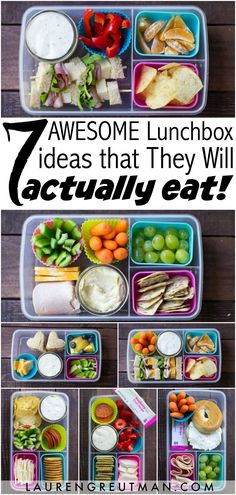 Looking for some lunch ideas to pack for your kids? Here are 7 AWESOME ideas that they might actually eat!