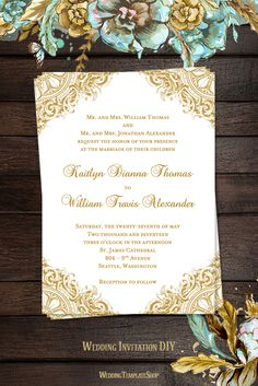 Free Pdf Download  Vintage Invitation With Art Deco Border Easy