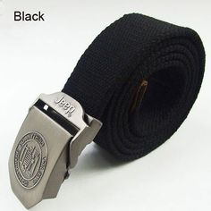 Jeep Unisex 125cm Length Metal Buckle Canvas Belt - FixShippingFee- - TopBuy.com.au