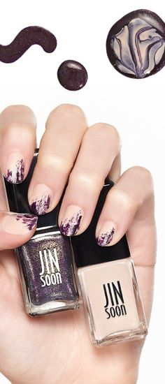 Turn to JINSoon for the chicest manicure of the season and play with polish! Creative Nail Designs, Creative Nails, Hot Nails, Hair And Nails, Nail Polish Designs, Fabulous Nails, Nail Tutorials, Mani Pedi, Natural Nails