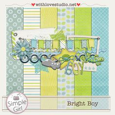 Bright Boy mini kit freebie from Simple Girl #scrapbook #digiscrap #scrapbooking #digifree #scrap