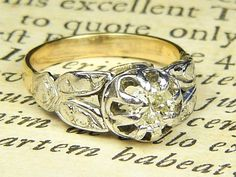 Here we have an antique, art deco period, diamond solitaire ring crafted in solid white gold. Ring (We can custom size this ring. Antique Gold Rings, Silver Rings, Ring Crafts, Art Deco Period, Diamond Solitaire Rings, Diamond Flower, 18k Gold, White Gold, English