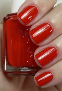 Essie geranium - a great red! My Mom used red nail polish for years. I thought her hands looked wonderful.