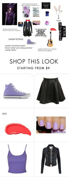 """Lavender (OC) X Bonnie the Bunny"" by sleepingwithdragons on Polyvore featuring Converse, Pilot, Urban Decay, Topshop, Dyne, LE3NO and Saddlebred"