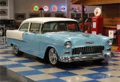 1955 Chevy...bet you wish you still had this car, remember you used to pick me up for dates in this car.