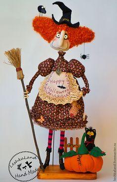 Купить Плющинда и Барбарис - яркий, прикольный, забавный, интерьерная кукла, авторская игрушка, ведьма, колдунья