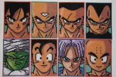 Dragon Ball Z Fighters by on DeviantArt Pixel Dragon, Kids Fathers Day Crafts, Pokemon Cross Stitch, Pearl Beads Pattern, Graph Paper Art, Anime Pixel Art, Bear Crafts, Perler Bead Art, Fuse Beads