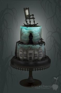 Woman In Black - Cake by Little Cherry