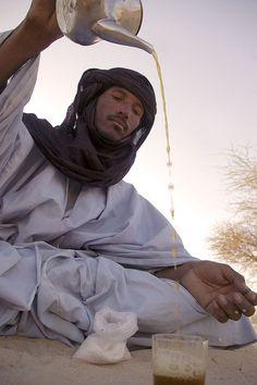 Tuareg Tea in the Sahara | Timbuktu | Mali by Sebastien Lenelle, via Flickr