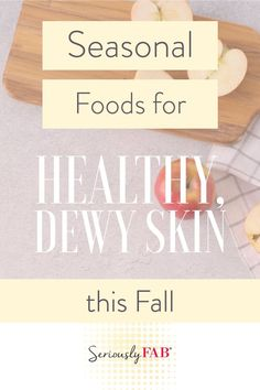 Drier cooler air can have a terrible impact on your skin and your makeup can only do so much. Fortunately a balanced diet can help you save your skin this fall season. Here are 5 great fall foods that will make your skin look and feel fantastic! Foods For Healthy Skin, Acquired Taste, Skincare Blog, Daily Health Tips, Feel Fantastic, Dewy Skin, Clean Beauty, Diy Beauty, Seasonal Food