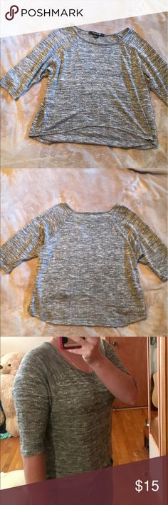 Gray half sleeve top In great condition gray half sleeve sweater like material very light weight size small Forever 21 Tops Blouses