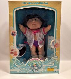 Vintage Cabbage Patch Splashin' Kids Girl Doll Trixie Janice 1987 #3580 Coleco  #Coleco #DollswithClothingAccessories
