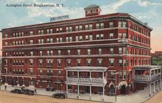 The Arlington Hotel - Binghamton, New York - pm 1916 - Divided Back
