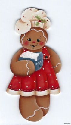 GINGERBREAD Girl Baker -  Based on a Renee Mullins design... handpainted by Pamela House