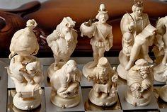 Шахматы Алиса в стране чудес, фигуры в виде персонажей Льюиса Кэрролла