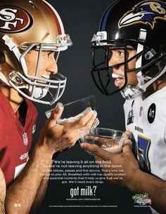 Colin Kaepernick/Ray Rice, Got Milk?