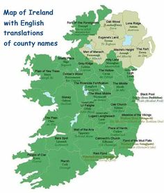 Ever wonder what the Irish language county names we see on football jerseys and road signs actually mean?
