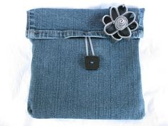 Blue Womens Pocketbook  Recycled jean Purse by SassyShugaBoutique, $25.00