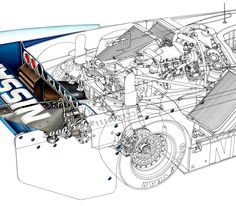 Nissan GTP ZXT Illustration - Technical Illustration - Jim Hatch Illustration