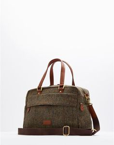 Runhall Mens Tweed Weekend Bag