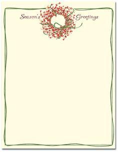 christmas letterhead stationary