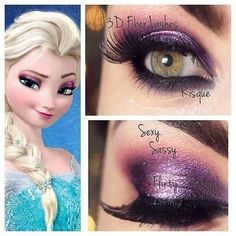 Want the Elsa look? Younique pigments Sexy, Sassy, Flirty, and Regal. Don't forget the 3D mascara to top the look. Order online at www.allthingsyounique.com