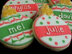 Maddycakes Muse: Personalized Ornament Cookies