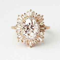 Heidi Gibson Octagon Gatsby - This is the style I like, but I prefer the rose gold w/ a morganite center, not the gold pictured here
