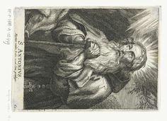 Schelte Adamsz. Bolswert   Heilige Antonius de Grote met taustaf en varken, Schelte Adamsz. Bolswert, Peter Paul Rubens, Anonymous, 1596 - 1709  