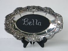 Chalkboard on Silver trays