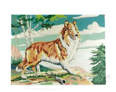 Paint by Number Collie Painting Lassie PBN by GizmoandHooHa, $38.00